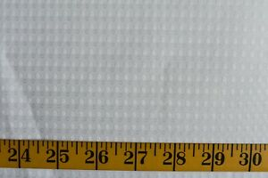 WHITE SMALL DESIGN PRINT ON WHITE POLYESTER FABRIC LINING? BY THE YARD