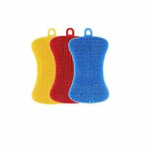 Kitchen Cleaning Silicone Sponges Reusable Dish Washing Scrubber Brush for Plat