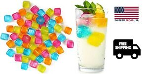 New Reusable Plastic Ice Cubes Pack of 20 Colors May Vary Free Shipping