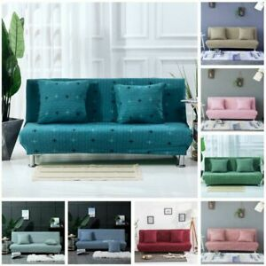 Folding Armless Slipcover Couch Case Sofa Cover 14 Bright Colors Living Room