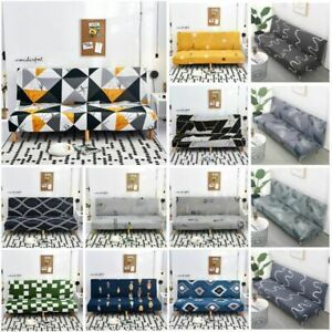 Folding Armless Slipcover Couch Case Sofa Cover Furniture Protector 24 Styles