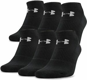 NWT Under Armour Socks Boys Charged Cotton 2.0 No Show 6 Pack Select SZ Color. $14.99