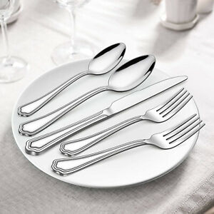 40Pcs Silverware Set Stainless Steel Polished Flatware Cutlery Service for 8