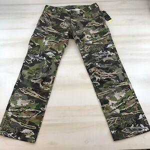 Under Armour Field Ops Storm Pants Forest Camo Hunting Size 36 34 1313212 940