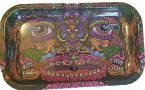 Large Metal Rolling Tray 10.5quot; X 6.5quot; X 1quot; NEW FREE SHIPPING $8.85