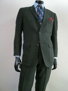 VTG Union made J Press Donegal tweed style speckled tweed three button suit 40 R