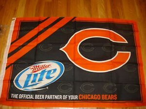 Chicago Bears NFL FOOTBALL TAILGATE FLAG MILLER LITE BEER
