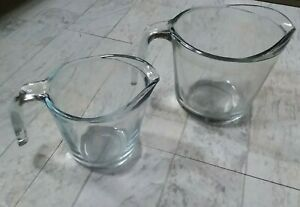 LARGE AND SMALL GLASS MEASURING CUPS FOR COOKING USE $7.99