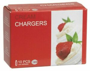 40 Whip Cream Chargers Best European EU whipped creme 4 boxes of 10 LISS N