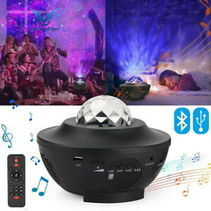 LED Galaxy Starry Night Light Projector Ocean Star Sky Party Speaker Remote Lamp $30.99
