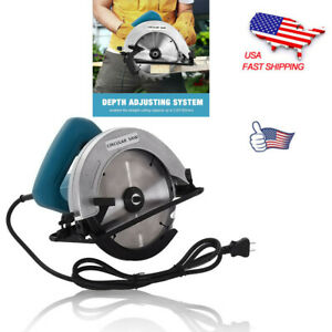 7 1 4quot; Circular Saw 1500W 4700RPM Upgraded Compact Circular Saw With LED Light