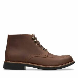 Clarks Mens Walker Mid Brown Leather Ankle Boots $39.99
