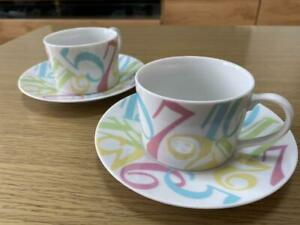 Franck Muller Pair Cup amp; Saucer Pottery Set VIP Novelty Gift Limited Colorful