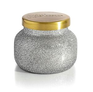 Capri Blue Frosted Fireside Petite Glitter Glam Candle 8 Oz