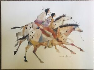 Carol grigg Lithograph Signed Edition 2 Brothers 18 X 24 $25.00