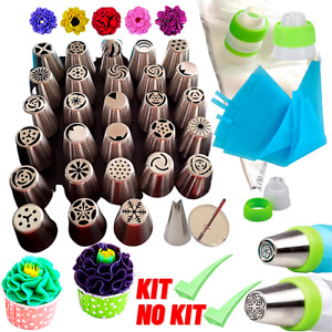 68Pcs Flower Russian Icing Piping Nozzles Pastry Tips Cake Decorating Baking Kit $32.97
