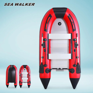 Seawalker Inflatable Fishing BoatWith Aluminum Floor 0.9mm PVC4 colors 5sizes