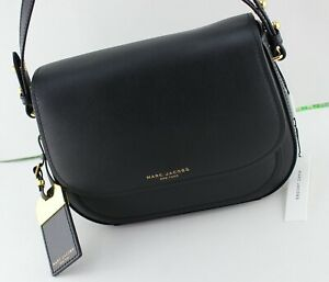 NEW AUTHENTIC MARC JACOBS RIDER LEATHER BLACK HANDBAG CROSSBODY WOMEN#x27;S M0014108 $139.99