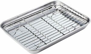 Baking Sheet with Rack Set Tray Cookie Sheet amp; Oven Pan 9 x 7 x 1 inch