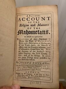 Rare Book account of Islam Exploration and travel to Mecca. 1738 $475.00