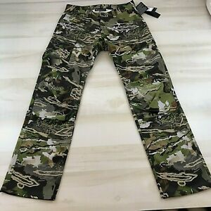 Under Armour Field Ops Storm Pants Forest Camo Hunting Size 32 34 1313212 940