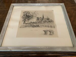 Henri Le Riche French 1868 1944 Signed Framed Etching $50.00