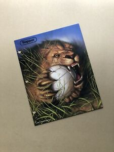 Vintage Trapper Keeper Folder Lion and Volleyball Portfolio 1998 Mead