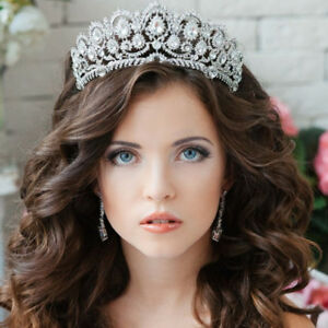 Crystal Silver Crown for Women Rhinestone Queen Tiara for Wedding Birthday $16.99