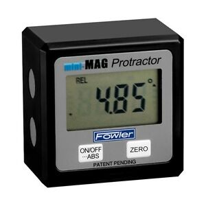 Fowler Mini Mag Angle Gauge Digital Protractor Magnetic Electronic Level $84.60