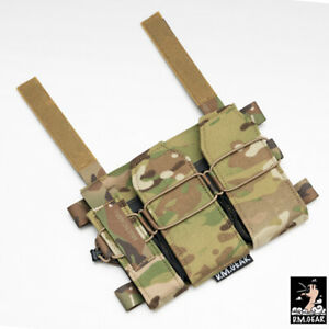 DMgear X10 556 Tactical Tri Magazine Pouch Mag Carrier Hunting Hook Panel Camo