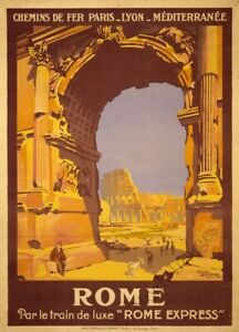 Rome vintage travel poster repro 24x36 $9.95