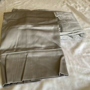 Royal Tradition 300TC 100% Cotton FITTED SHEET 2 Pillowcases Queen Gray