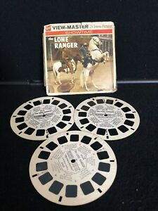 The LONE RANGER TV Show Vintage View Master Reel Pack B465 GAF G3 with booklet $24.99
