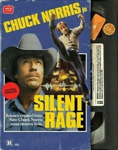 Silent Rage Retro VHS Packaging Blu ray Chuck Norris