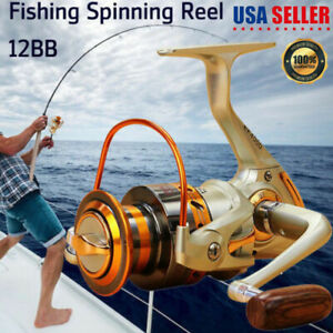 Spinning Fishing Reels Baitcasting Reel Saltwater Left Right Hand Aluminum Spool