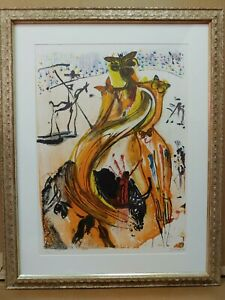 SALVADOR DALI SIGNED LITHOGRAPH BUTTERFLY BULLFIGHTER 220 250. With Certificate $2800.00