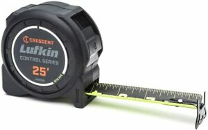 Crescent Lufkin 1 3 16 x 25#x27; Command Control Series Black Clad Tape Measure $21.99