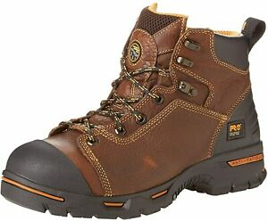 TIMBERLAND PRO Endurance PRO 6quot; Waterproof Rancher Brown Men#x27;s Work Boots