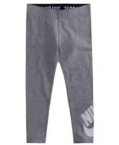 "Nike Girls Size 4 ""Just Do It"" Gray Leggings NWT Grey $11.95"