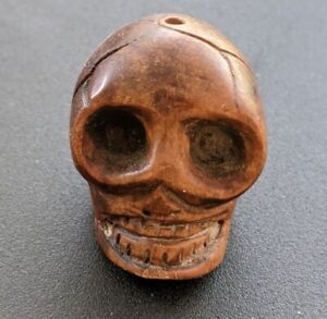 Wood Skull Day Of The Dead Antique Yard Sale Find In 2000 $20.00