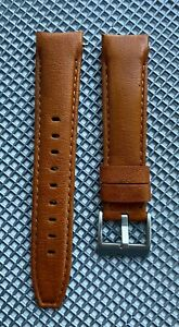 20mm Sunrise TAN Calfskin leather curved fitted Band Strap Rolex Submariner $69.99