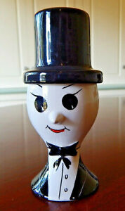 Vintage Eggcup Italian Man in Tuxedo and Tophat