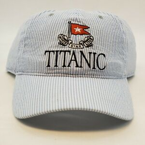 Titanic Museum White Star Line Nautical Strap Back Cap Hat NWOT