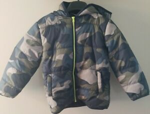 Gymboree Boys Camo Hooded Puffer Jacket Coat Size S NEW $36.00