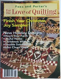 Fons And Porter#x27;s For The Love Of Quilting Magazine November December 1999 $4.99