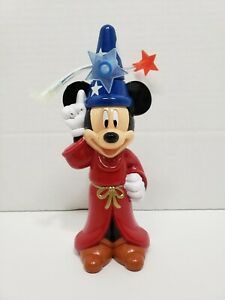Walt Disney Parks Souvenier Fantasia Socerer Mickey Mouse Spin And Light Up Toy $12.99