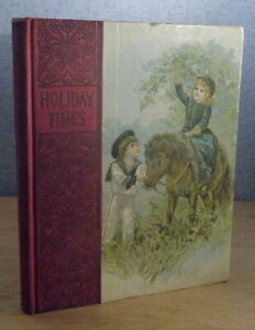 HOLIDAY TIME Merry Stories c.1900 DeWolfe amp; Fiske Chromolithography $61.50