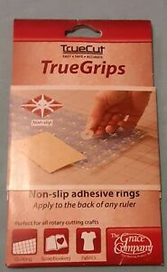 TrueGrips Non slip Adhesive Rings for Quilting Rulers by TrueCut $8.00