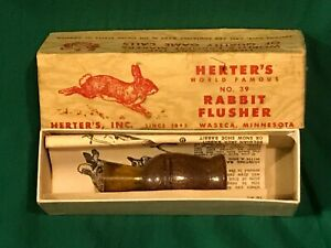 HERTER#x27;S C39 COTTONTAIL RABBIT FLUSHER CALL w Box and instruction sheet