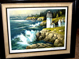 Lighthouse signed w certificate New England Thomas Nicholas March 8 1977 Mint $825.00